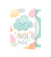 """Einladungskarten """"Kleine Wolke"""" - 8 Stück"""