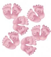 Babyfüßchen aus Stoff - rosa - 6 Paar