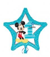 "Stern-Folienballon ""Mickey 1st Birthday"""