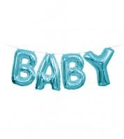 "Folienballon-Set ""BABY"" - hellblau - 36 cm"