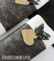 Tischband aus Vlies - schwarz - 10 cm x 10 m