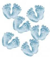Babyfüßchen aus Stoff - hellblau - 6 Paar