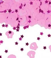 "Streukonfetti ""Babyfüßchen - rosa"" - 14 g"