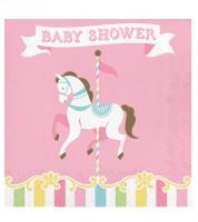 """Servietten """"Karussell"""" - Baby Shower - 16 Stück"""