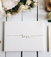 "Gästebuch ""Love Script"" - weiß"