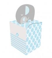 """Geschenkboxen """"Kleiner Elefant - hellblau"""" - 8 Stück"""