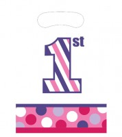 "Mitgebseltüten ""1st Birthday - Girl"" - 8 Stück"