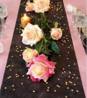 Tischläufer aus Vlies - schwarz - 30 cm x 10 m