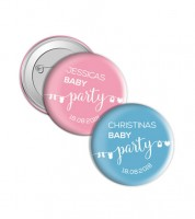 "Dein Button ""Babyparty"" - Wunschtext"