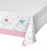"Kunststoff-Tischdecke ""Hello Baby - rosa"" - 137 x 259 cm"