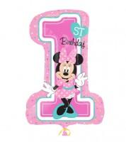 """Supershape-Folienballon """"Minnie 1st Birthday"""""""