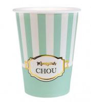 """Pappbecher """"Monsieur"""" - mint - 10 Stück"""