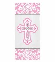 """Kunststofftüten """"Kreuz"""" - rosa - 20 Stück"""