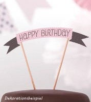 "Cake Topper ""Sweets"" - Happy Birthday"