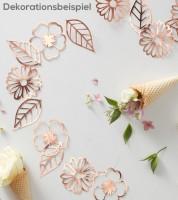 DIY Blumengirlande - rosegold metallic - 3 m