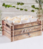 Aufstell-Kiste mit Holzeffekt
