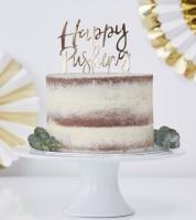 """Cake-Topper """"Happy Pushing"""" - gold metallic"""