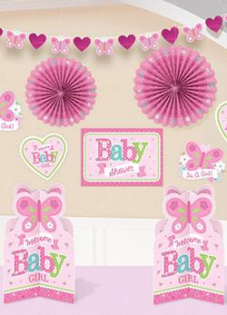baby shower deko f r m dchen deko serien babyparty. Black Bedroom Furniture Sets. Home Design Ideas