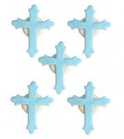 "Zuckerdekor ""Kreuz"" - hellblau - 5 Stück"