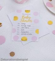 "Einladungskarten ""Rosa & Gold""  - 10 Stück"