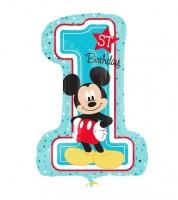 """Supershape-Folienballon """"Mickey 1st Birthday"""""""