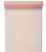 Tischläufer mit weißen Pünktchen - rosa - 30 cm x 5 m