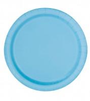 """Pappteller """"Powder Blue"""" - 16 Stück"""
