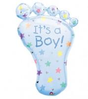 """SuperShape-Folienballon """"Babyfüßchen Boy"""""""