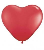 Herz-Luftballons - 40 cm - rot - 100 Stück