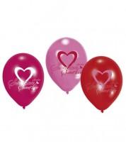 "Luftballon-Set ""Sweet Love"" - rosa/pink/rot - 6 Stück"