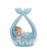 "Deko-Figur ""Baby in Windel"" - pastellblau"