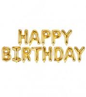 "Folienballon-Set ""Happy Birthday"" - gold - 340 x 35 cm"