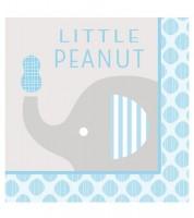 """Servietten """"Kleiner Elefant - hellblau"""" - Little Peanut - 16 Stück"""