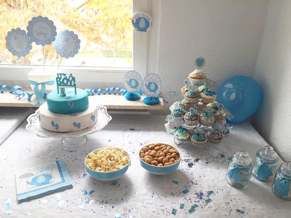 im babyfanten marsch zur baby party s e deko in blau baby belly party blog. Black Bedroom Furniture Sets. Home Design Ideas