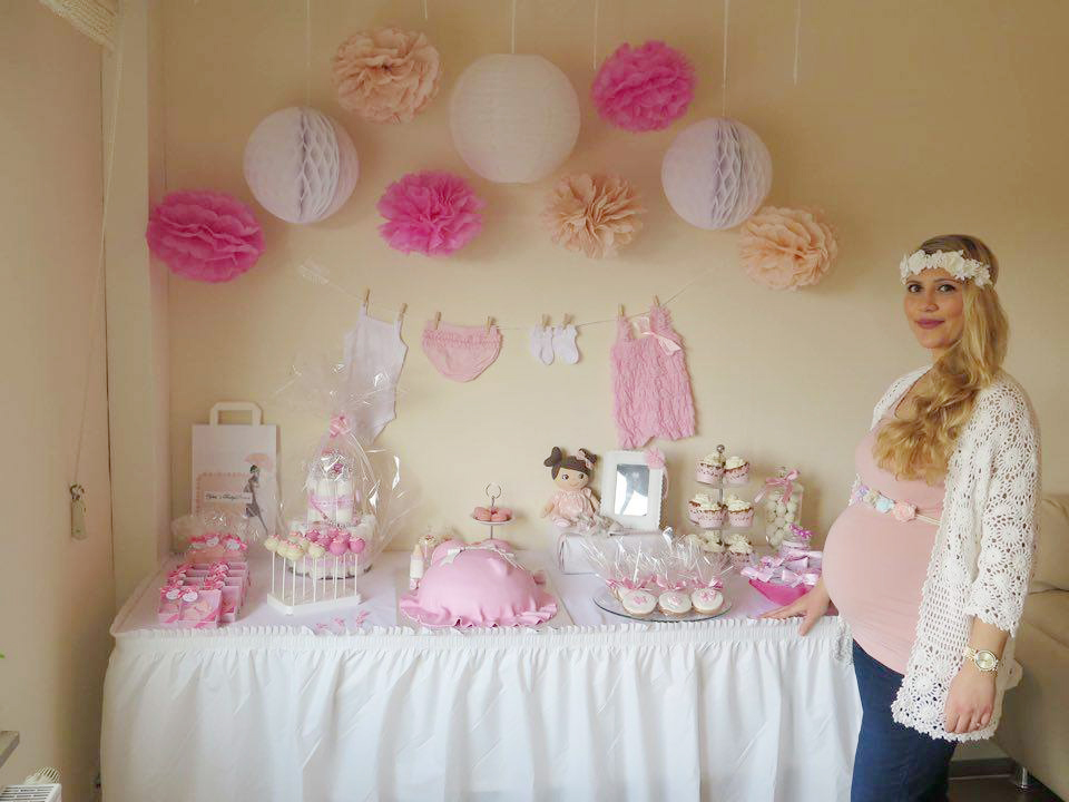 Real baby shower zart rosa babyparty f r ein kleines baby - Baby shower party ideen ...