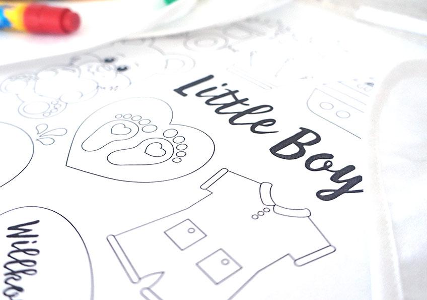 gratis babypartymalvorlagen für jungen  baby belly party