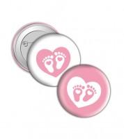 "Button ""Babyfüßchen"" - rosa"