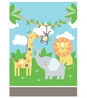 "Mitgebsel-Tüten ""Safari Tiere"" - 8 Stück"