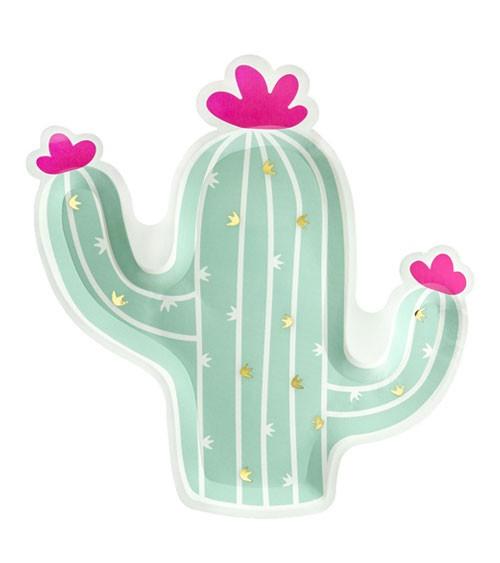 "Shape-Pappteller ""Kaktus"" - 6 Stück"