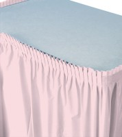 Tischverkleidung - rosa - 4,26 m