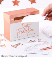 "Babyparty-Spiel ""Baby Prediction"" - rosegold - 21-teilig"