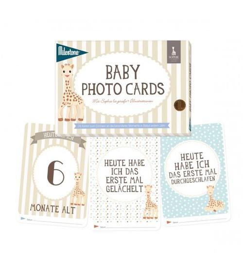 "Milestone Baby Photo Cards ""Sophie la girafe"""