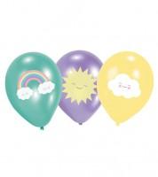 """Luftballon-Set """"Regenbogen und Wolke"""" - 6-teilig"""