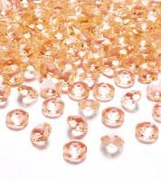 """Streudeko """"Diamant"""" - gold-orange - 100 Stück"""