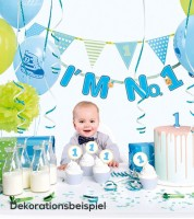 "Party-Deko-Set ""I'm No.1 - blau"" - 42-teilig"