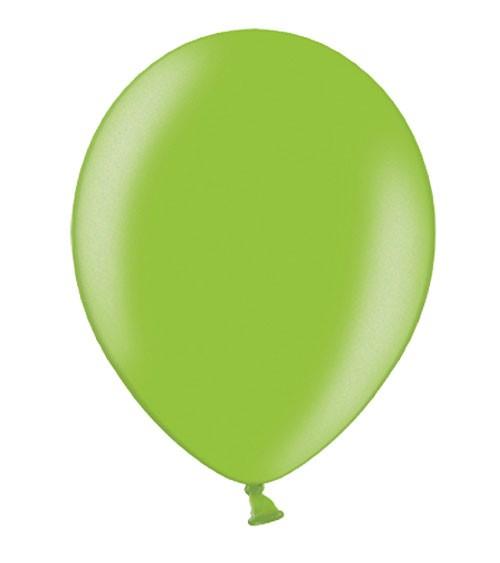 Metallic-Luftballons - hellgrün - 50 Stück
