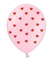 """Luftballons """"Herzen"""" - rosa/rot - 30 cm - 6 Stück"""