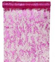 Tischläufer in Metallic-Netzoptik - pink - 28 cm x 5 m