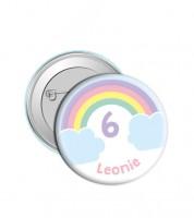 "Dein Button ""Rainbow"" - Wunschtext"
