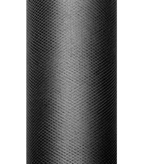 Tischband aus Tüll - schwarz - 15 cm x 9 m